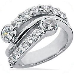 Right Hand Diamond Wedding Band 14k Gold Ring 1.81 Carat G Color Si1 Clarity