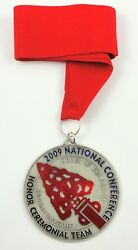 2009 Noac Order Of The Arrow Honor Ceremonial Team Oa Medal With Red Ribbon