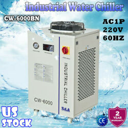 Us Cw-6000bn Industrial Water Chiller For 100w Solid-state Laser Ac1p 220v 60hz