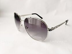 NWT GUESS GUF 241 Silver  AVIATOR   Authentic Sunglasses Gift Idea 467 New $39.90