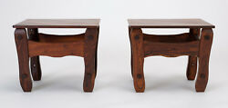 Don Shoemaker Descanso Pair Side Tables Senal Mexican Mid Century Modern Vintage