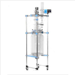 10l Chemical Lab Jacketed Glass Reactor Vessel Explosion Proof Customizable Sj