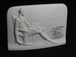 Lladro Stand Collectors Society Store Display Name Sign Plaque China Vintage
