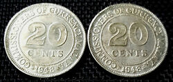 1948 Malaya King George Vi 20 Cent Coin 2pcs Plus 1 Free Coin D2257