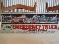 2005 Hess Emergency Truck With Rescue Vehicle--new In Box