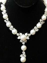 LAST CALL!$85K RARE CERTIFIED 18KT LRG CULTURED SOUTH SEA PEARL DIAMOND NECKLACE