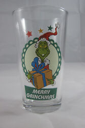Dr. Suess Merry Grinchmas Drinking Glass/beer Glass - 6 Inches High