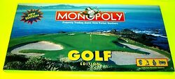 Monopoly Classic Game GOLF Edition Custom Pewter Bag Tee Caddy Putter Ball Shoes $50.00