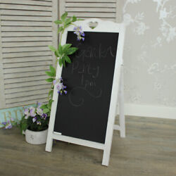 White blackboard memo board kitchen shabby cottage chic home notes children cafe