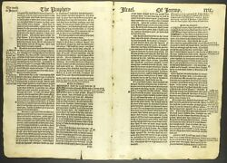 1537 Matthewand039s Bible Leaf - 1st Ed - 4 Double Leaves - You Choose - Xxxxxx Rare