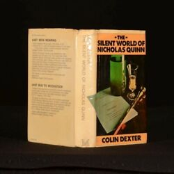 1977 The Silent World Of Nicholas Quinn By Colin Dexter Uncommon First Ed Morse