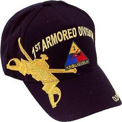 US ARMY 1st Armored Division Ball Cap First Armor Div Ballcap Old Ironsides Hat