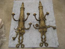 Antique Wall Sconce, Cast Iron, Wired,,,, Need Repair,,, As Is ...local Pick-up