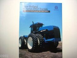 New Holland 4-wheel Drive Tractors 84 Series Very Nice Poster Style Brochure