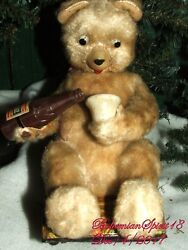 Antique Vintage Bear Pouring From A Bottle Battery Operated Sold As Is Toy