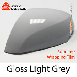 Gloss Light Grey Avery Dennison Supreme Wrapping Film Covering Cb1540001