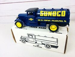 Ertl Sunoco Diecast Tanker Truck Bank Gb-4070 From 1992 Made In Usa