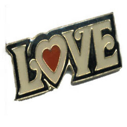 Wholesale Lot Of 12 Love Heart Lapel Hat Pins Fast Usa Shipping