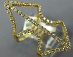 Estate Large .71ct Diamond 18kt Yellow Gold 3d Anchor Love Ring