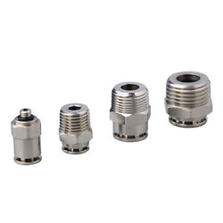 High Pressure Straight-way Air Push In Fitting Pneumatic Connector Male Thread