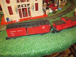 American Flyer S Gauge 630 Caboose And 629 Stock Car Part Repaint Good Cond 46-52