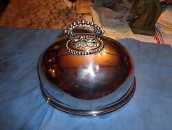 Antique Mappin And Webb Princesand039 Platvictorian Silver Plate Meat Cover Dome