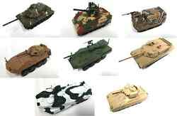 SET OF 8 USA ARMY MILITARY VEHICLES 1:72 DIECAST TANK GUN BRADLEY VULCAN