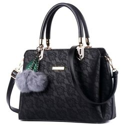 Printed Bags Lace Women Handbags Leather Shoulder Messenger For Ladies Polyester $33.99