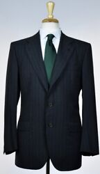 KITON Mens Bespoke 3 Roll 2 Button Superfine Wool Suit Size 38 48 NEW $7500