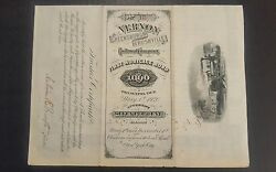 1000 1880s First Mortgage Bond Greensburg In Rushville In Greensburgh