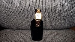Ladies Genuine Cartier Panthere Solid 18k Gold Roman White Swiss Designer Watch