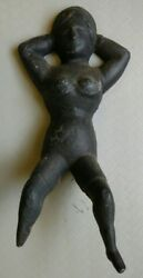 Antique Cast Iron Naughty Nellie Boot Jack 9 1/2