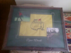 Tiger Woods UDA Signed Auto 2005 Masters Golf Flag Upper Deck Authenticated