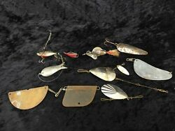 Antique Fishing Lure Spinner Plug Float Lot