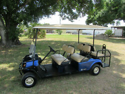 2014 CUSHMAN HOSPITALITY SHUTTLE 6 - 6 Passenger Transport Golf Cart Gas Engine