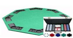Popular Dice Texas Holdem Poker Chip Set 300ct And Folding Table Top Combination