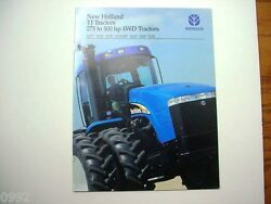 New Holland 4-wheel Drive Tractors Brochure 275 To 500 Hp Size Tj275 To Tj500 M