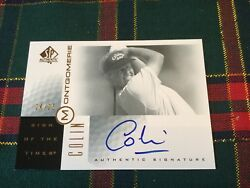 Colin Montgomery 2001 Sp Golf Sott Sign Of The Times Gold/25