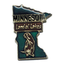 Wholesale Lot Of 12 Minnesota State Shaped Lapel Hat Pins Tie Tac Fast Ship