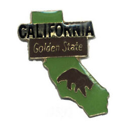 Wholesale Lot Of 12 California State Shaped Lapel Hat Pins Tie Tac Fast Shipping