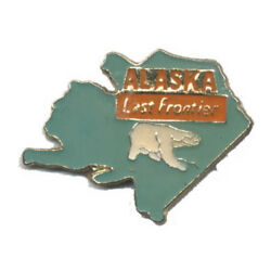 Wholesale Lot Of 12 Alaska State Shaped Lapel Hat Pins Tie Tac Fast Shipping