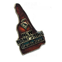 Wholesale Lot Of 12 New Hampshire State Shaped Lapel Hat Pins Tie Tac Fast Ship