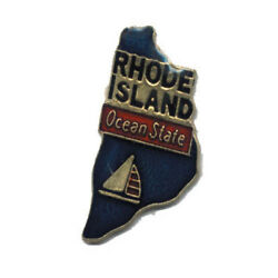 Wholesale Lot Of 12 Rhode Island State Shaped Lapel Hat Pins Tie Tac Fast Ship
