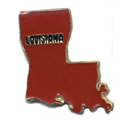 Wholesale Lot Of 12 Louisiana State Shaped Lapel Hat Pins Tie Tac Fast Ship