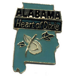 Wholesale Lot Of 12 Alabama State Shaped Lapel Hat Pins Tie Tac Fast Shipping