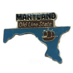 Wholesale Lot Of 12 Maryland State Shaped Lapel Hat Pins Tie Tac Fast Ship