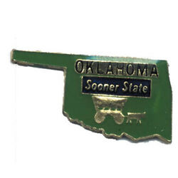 Wholesale Lot Of 12 Oklahoma State Shaped Lapel Hat Pins Tie Tac Fast Shipping
