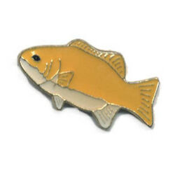 Wholesale Lot Of 12 Tropical Fish Yellow Lapel Hat Pins Tie Tac Fast Usa Ship