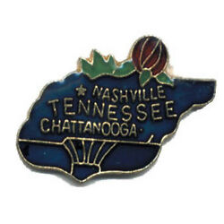 Wholesale Lot Of 12 Tennesee State Shaped Lapel Hat Pins Tie Tac Fast Ship