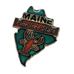 Wholesale Lot Of 12 Maine State Shaped Lapel Hat Pins Tie Tac Fast Ship